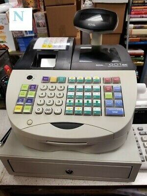 Cash Register - Royal Alpha 601sc Cash Register w/ Bar Code Scanner and Manual