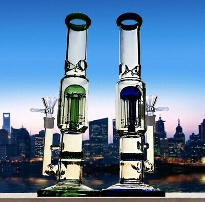 Best Handmade Percolator Glass Bong Water Pipe 11 inch Thick Glass Fast Shipping