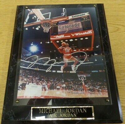 1988 Slam Dunk Contest Michael Jordan Autograph with COA 8x10 Chicago Bulls