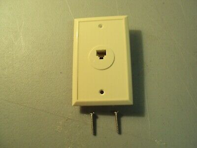 Phone Jack Wall Mount Plate Telephone Outlet 6-Wire Conductor RJ11 RJ12 IVORY