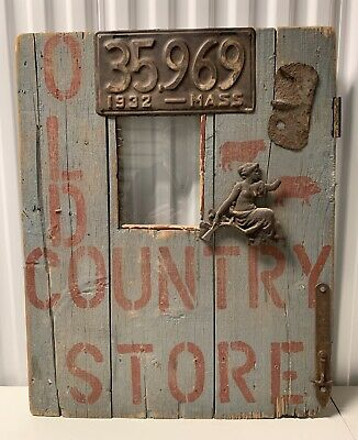 Old American Folk Art Country Store Sign Architectural Building Salvage