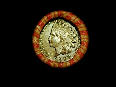 Crimped Shotgun Roll w/ UNC 1897 Indian Head Cent & 1907 Indian Head Showing