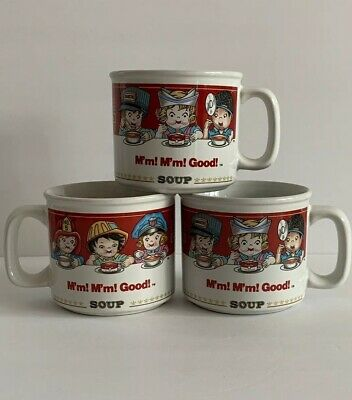 Set of 3 Vintage 1993 WESTWOOD Campbell Soup Mugs - Kids And Occupations