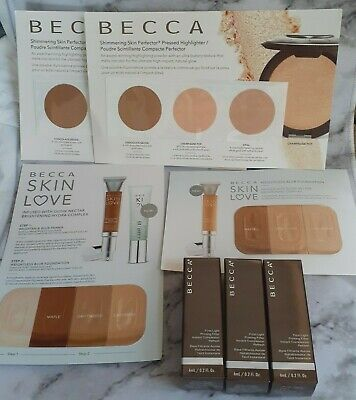 BECCA Travel Size and Sample Makeup Items Primer, Highlighter