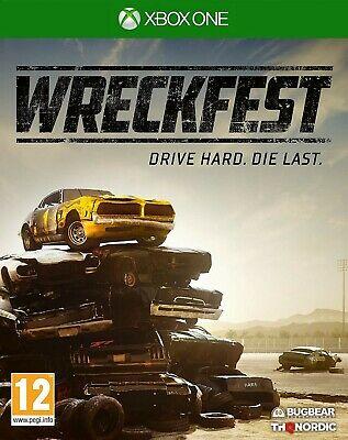 Wreckfest XBOX One 1 Video Game Original UK Release Mint Condition