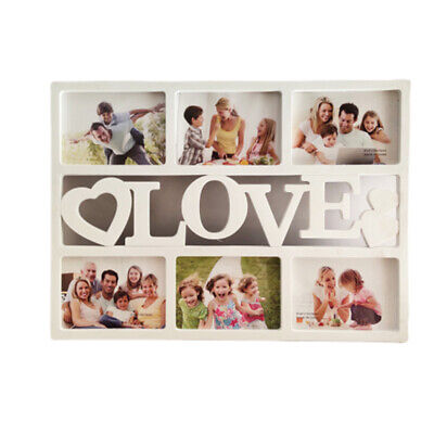 1PC Love 6 Photo Sockets Simple Photo Frame Photo Gallery Wall Mounting Design