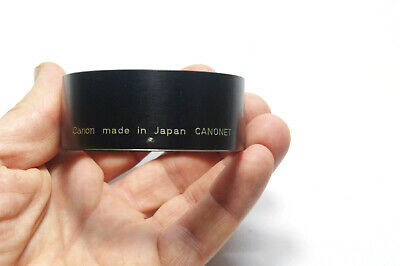 Vintage Canon  Lens Hood For Canonet | Metal | Clamp On | 57 Mm
