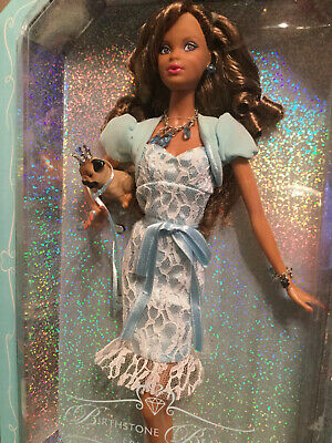 Aa Miss Aquamarine March Birthstone Beauties Collection Barbie Doll Pink Label