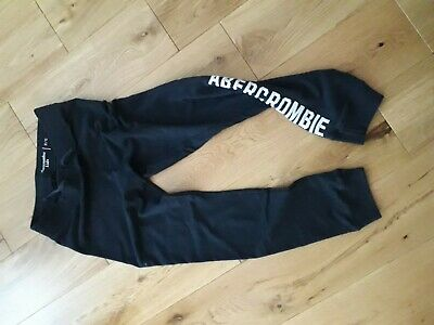 Abercrombie and fitch kids navy joggers age 11/12