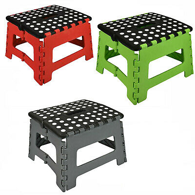 Plastic Foldable Multi Purpose Step Foot Stool Kitchen Garage Home Easy Storage