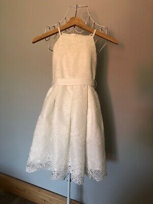 Girls Wedding Party Christening Pretty Dress Age 8 Lipsy Excellent Condition