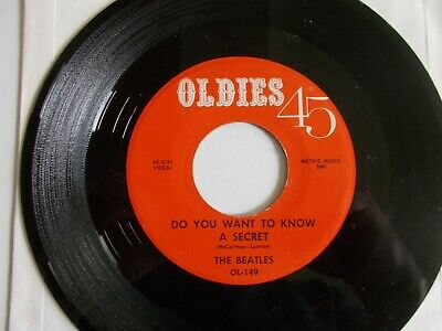 """The Beatles-1964 Oldies """"Do You Want to Know a Secret"""" 45 w/Sleeve/Authentic-NM-"""