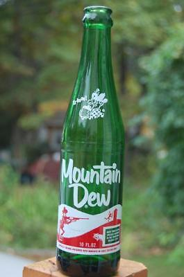 #1 Vintage 60S Mountain Dew Hillbilly Pig Soda Bottle  It'll Tickle Yore Innards