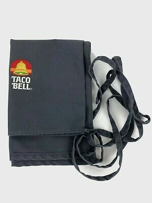 """1980""""s Vintage Taco Bell Gray Half Apron Size M Garco For Working America"""