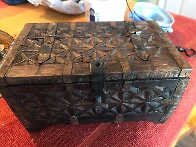 *SALE* Antique Indian Wooden Box