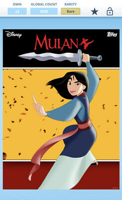 Topps Disney Collect - Mulan Motion - Complete Set w/ Award *Digital*