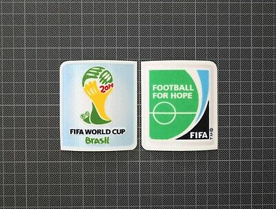 FIFA World Cup Brazil 2014 & Football For Hope Sleeve Patches/Badges Brasil