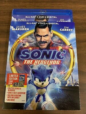 Brand New Sonic the Hedgehog Movie Blu-ray + DVD + Digital 2020