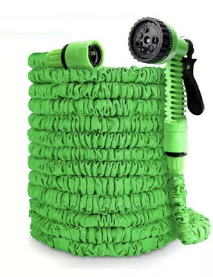 250 ft magic water hose pipe retractable flexible compact & Spray Head CLEARANCE