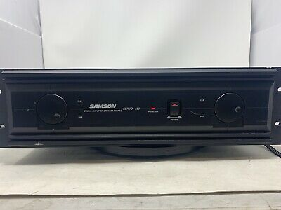 Rack Mount Samson Servo 550 Studio Power Stereo Amplifier 275-Watt/CH 4-OHMS MW