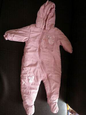 Baby Girl clothes, Snowsuit With Hood, Coat, Pink, NEXT, size: 6-9 months (126)