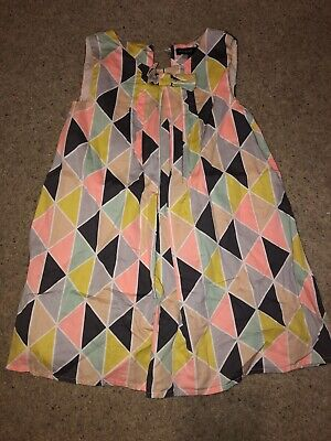 Girls Marks & Spencer's M&S Geometric Shift Dress, Lined. Age 3-4 Cotton