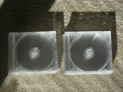 10 Standard-Sized, Hard-Plastic, Clear & clean CD Jewel Cases. Clear Trays