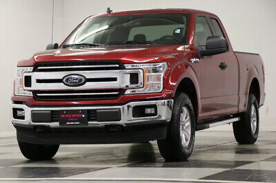 2019 Ford F-150 4X4 XLT Camera Magma Red SuperCab 4WD Like New Used Extended Cab Bluetooth Bench Seats 18 20 2018 19 5.0L V8