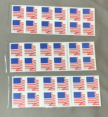 60 USPS Flag First Class Postage Forever Stamps.