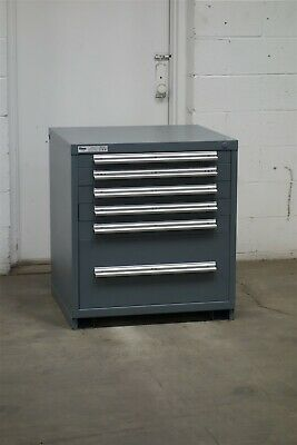 Used Stanley Vidmar 6 drawer cabinet 33 high industrial tool storage #2154