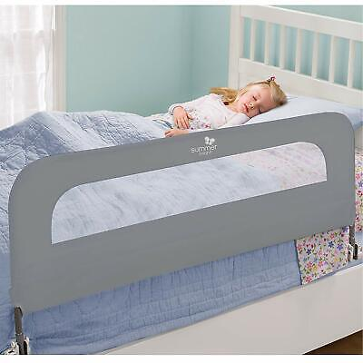 Bed Rail For Toddlers Kids Extra Long Folding Grey Bedrail