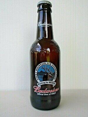 """15"""" Budweiser Large Glass Beer Bottle Empty 64 Oz King Of Beers"""