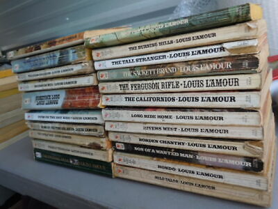 Lot of 20 Paperback LOUIS L'AMOUR western novels Sacketts great reading
