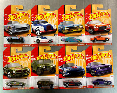Hot Wheels 2020 Target Exclusive Throwback Decades ( Set Of 8 ) Firebird Camaro