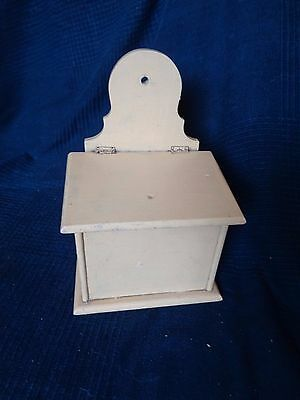 Box Wooden Box for Salt for Kitchen Key Empty Pocket