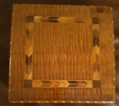 Hilo Boarding School Early Hawaii Hand Made Indaid Koa Box