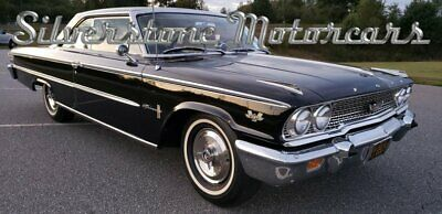 1963 Ford Galaxie Factory 427 Dual Quad 1963 Black Fastback Sports Hardtop Numbers 427 Dual Quad 4 Speed