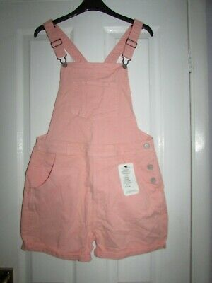 girls lovely pale pink short dungarees from M&S age 14-15yrs,BNWT,rrp £22