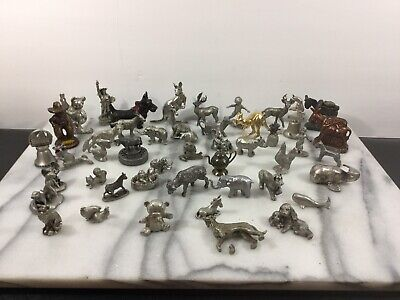 Hudson, Spooniques, Radcliffe And Hallmark Pewter & Other Metal Figurines Lot