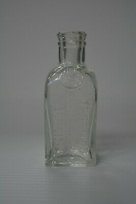 "Hartwig Kantorowicz Sample Clear Hamburg Stomach Bitters 3-3/4"" Tall"