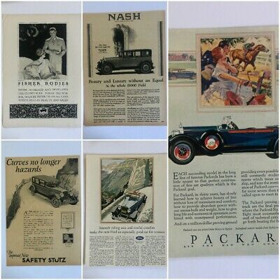 1920s Automobile Car Magazine Ads Lot Ford GM Nash Packard McClelland Barclay