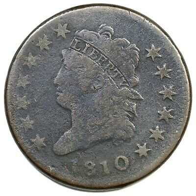 1810 S-283 R-2 Classic Head Large Cent Coin 1c