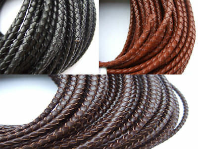 4mm Round Genuine Leather Cord for DIY Jewelry Necklace Bracelet Making String
