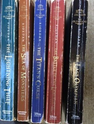 Percy Jackson and the Olympians 1-5 set Riordan 1 2 3 4 5 PB lot acceptable
