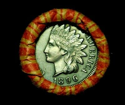 Crimped Shotgun Roll w/ 1896 Indian Head Cent & 1904 Indian Head Showing