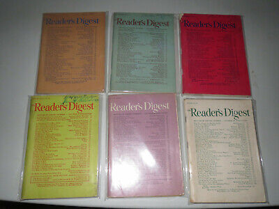 Vintage Reader's Digest Books (6 BOOK LOT) 1947 & 1948 > Good > WW ll