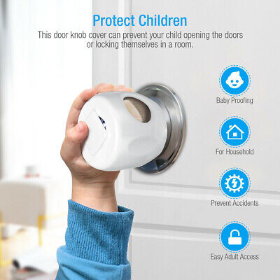 Children Baby Safety Lock Door Knob Cover Child Proof Safe Kids Toddler Guard
