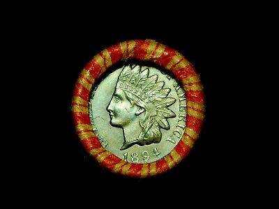 Crimped Shotgun Roll w/ UNC 1894 Indian Head Cent & 1903 Indian Head Showing
