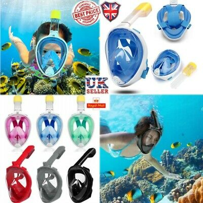 Adults Kids Full Face Diving Anti-Fog Mask Swim Snorkel Scuba set For GoPro UK