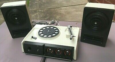 Vintage 1970's SANYO Stereo RECORD PLAYER, Speakers, SPT 1100T - Very RETRO